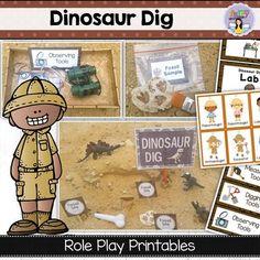 Dinosaur Dig Dramatic Play by Fairy Poppins Dinosaurs Preschool, Preschool Activities, Preschool Learning, Teaching Art, Teaching Ideas, Dinosaur Projects, Dinosaur Crafts, Dinosaur Dig, Dinosaur Museum