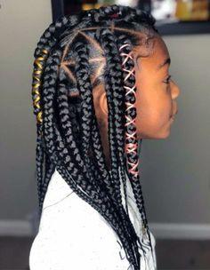43c3e428 Little girl box braids …   jazz hair in 2019…