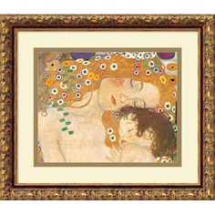 Klimt 'Three Ages of Woman ($59) ❤ liked on Polyvore featuring home, home decor, wall art, gold, outside wall art, outside home decor, white home decor, outdoor wall art and outdoor home decor