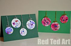 Very simple but effective, Preschooler Christmas Cards via www.redtedart.com
