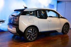 BMW i3 electric car in white