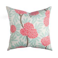 Mint Fleur Chinoise Pillow