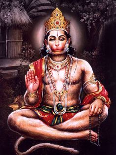 Lord Hanuman singing Hymns of Lord Rama and Sita