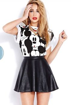 """Cute Outfit From """"The Mickey Mouse"""" Collection At Body Central"""