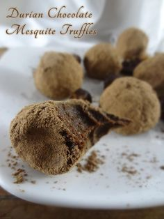 Raw Chocolate Durian Mesquite Truffles Recipe | Raw Food Bali