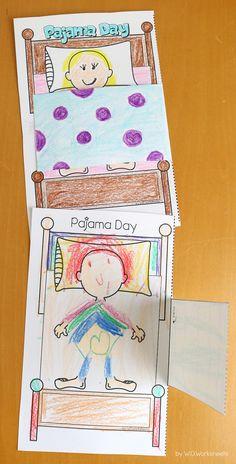 Fun Pajama Day Craft & Activities for the Classroom Kindergarten Activities, Preschool Crafts, Preschool Activities, Preschool Lessons, Kindergarten Classroom, Slumber Parties, Sleepover, Pyjamas, Pajama Day At School