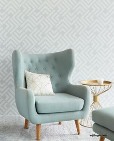 A touch of geometry, a hint of Art Deco and an earthy, artistic feel and that about sums up the gorgeous Geonature collection. Boring walls look out! Living Room Sofa Design, Living Room Chairs, Living Room Designs, Living Room Decor, Single Sofa, Home Wallpaper, Geometric Wallpaper, Sofa Set, Home Decor Bedroom