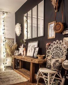 Deco boho recup ' - New Deko Sites Deco Boheme Chic, Boho Deco, Bohemian Decor, Boho Chic, Bohemian Living, Interior Design Living Room, Living Room Decor, Interior Livingroom, Style Deco