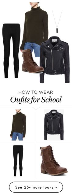 """Winter school outfit"" by neardestiny on Polyvore featuring Helmut Lang, IRO, Donna Karan, Jellypop and Karen Kane"