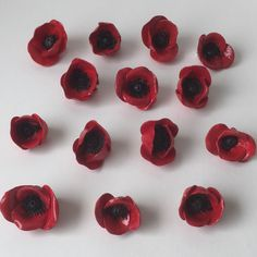 Poppy Brooches