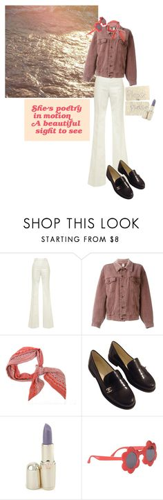 """LOOK AT ME WITH NO HESITATION"" by magickofthelema ❤ liked on Polyvore featuring Giambattista Valli, Moschino, Chanel, Versus, Name It and vintage"