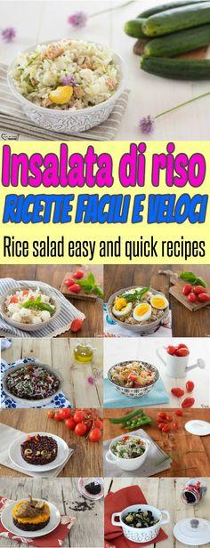 0d8abb3aea6f INSALATA DI RISO ricette veloci primi piatti freddi con il riso piatti  estivi per il mare