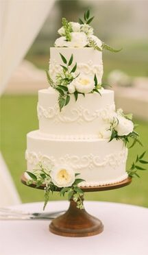 Simple, elegant...just add a touch of purple flowers