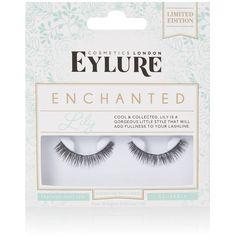 Enchanted Lily False Lash by Eylure (£5.50) ❤ liked on Polyvore featuring beauty products, makeup, eye makeup, false eyelashes, light green, eylure and eylure false eyelashes