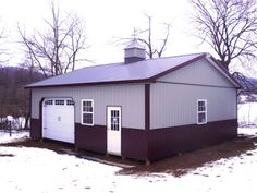 """Building Dimensions: 30' W x 32' L x 10' 4"""" H (ID# 309)  Visit: http://pioneerpolebuildings.com/portfolio/project/30-w-x-32-l-x-10-4-h-id-309-total-cost-16533  Like Us on Facebook! www.facebook.com/... Call: 888-448-2505 for any questions!"""