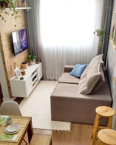60 Exciting Small Living Room Ideas to Transform Your Cramped Space Декор . - 60 Exciting Small Living Room Ideas to Transform Your Cramped Space Декор детской ком - Tiny Living Rooms, Small Apartment Living, Simple Living Room, Small Rooms, Living Room Interior, Home Living Room, Living Room Furniture, Living Room Decor, Living Area