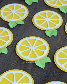 Lemon Crafts, Fruit Crafts, Party Crafts, Fruit Birthday, Birthday Parties, Tea Parties, Birthday Kids, Kids Lemonade Stands, Summer Crafts For Toddlers