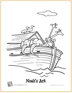 noahs ark free coloring page httpmakingartfuncomhtm