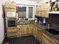 Kitchen Cabinets From Pallets made of pallets! https://sphotos-a.xx.fbcdn/hphotos-ash3