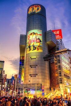 Shibuya 109 at Dusk - the epicenter of Tokyo glitz