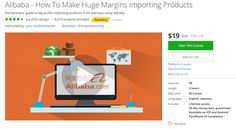 Alibaba - How To Make Huge Margins Importing Products. Entrepreneur guide to big profits importing products from overseas using Alibaba.