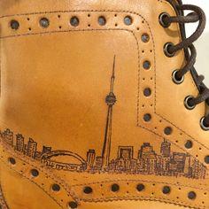 Dubai Tattoo on brogue boots