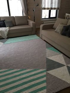 Crochet rug pattern - PDF crochet pattern - crochet rug - BelkinHome - Instant D. Beige Carpet, Diy Carpet, Stair Carpet, Crochet Leaf Patterns, Painting Carpet, Crochet Carpet, Mid-century Interior, Crochet Home Decor, Rectangular Rugs