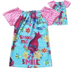 81c563c92 trolls clothes girls tshirt kids clothing short sleeve t shirt cotton girls  tops cartoon children t shirts troll costumes 2017-in Tees from Mother &  Kids on ...
