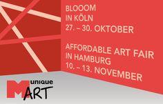Messeendspurt: BLOOOM und Affordable Art Fair – Nach der Stroke und der ARTMUC in München, nehmen wir in diesem Ja ...