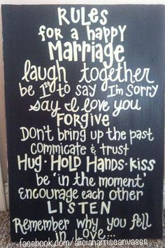 Homeade Rules of Marriage 24x16 Wood Sign by AliciaHarrisCanvases, $40.00