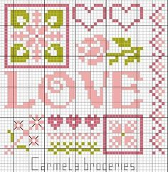 side 2 for my biscornu Biscornu Cross Stitch, Free Cross Stitch Charts, Cross Stitch Freebies, Cross Stitch Heart, Cross Stitch Cards, Cross Stitch Borders, Cross Stitch Kits, Cross Stitch Designs, Cross Stitching