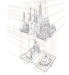 sagrada familia architectural drawings - Google Search