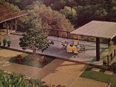 I totally want this deck on a hill.   The Practical Encyclopedia of Good Decorating and Home Improvement. Book 6. Pg 1065.