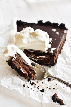 My Dark Chocolate Truffle Tart recipe is an easy chocolate-lover's dessert for any occasion ~ decadent but simple to make, and easily made gluten free. Dark Chocolate Truffles, Chocolate Wafers, Homemade Chocolate, Chocolate Desserts, Easy Chocolate Ganache, Chocolate Tarts, Tart Recipes, Dessert Recipes, Keto Recipes