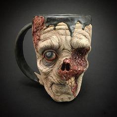 """Les mugs zombie de Kevin """"Turkey"""" Merck - http://www.2tout2rien.fr/les-mugs-zombie-de-kevin-turkey-merck/"""
