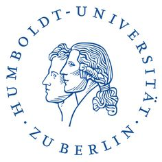 Huberlin logo (with the efigies of Humboldt and his male 'companion' Aimé Bonpland  - Humboldt University of Berlin - (In relation to the Neoclassical Prussian Geographer, Naturalist and Explorer Alexander Von Humboldt)