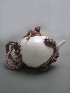 """Bottom Feeder Teapot"" by Mary O'Malley via Saatchi Art"