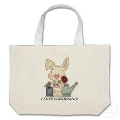 Cartoon Bunny Floral Tote Bag, $20.95