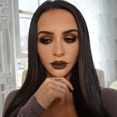 New video is finally up!!! Brown & Copper Glitter Smokey EyeFull contour & highlight routine too!! Direct link in my profileEnjoy!!! @thefashionbybel