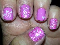 Makeup Junkie and Fangirl: Pink Valentine's Day Mani