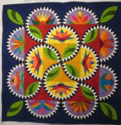 Gallery - Obsessive quilter, Radiant Blooms by The Denver Electric Quilters - Chris Brown, Lynda Milligan, Katie Wells, Judy Ahlborn, Mary Leeper, Barb Gardner, Joan Christopherson, Terri Scott, and Ann Petersen