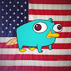 Happy Birthday America: Perry the Platypus Style