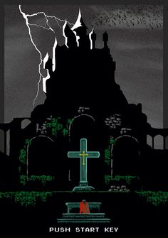 Castlevania Game Poster NES by LafarPosters on Etsy