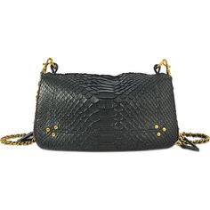 Jérôme Dreyfuss Bobi bag in python (£765) ❤ liked on Polyvore featuring bags, handbags, black, python bag, python purse, python print handbag, snake print bag and jerome dreyfuss bags