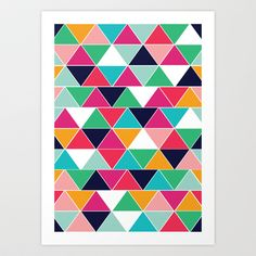 love triangle Art Print by Vy La