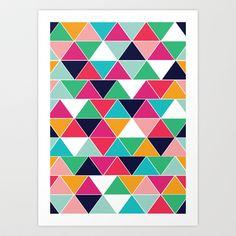 love triangle Art Print by Vy La