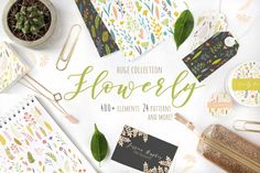 Hello there! I am so happy to present you my new packFlowerly! I think it is self-explanatory - it is all about the flowers! A beautiful, elegant and whimsical addition to your project. It contains looots of hand drawn colorfulfloral elements, wreaths, bouquets, patternsandbordersboth in vector and raster formats.