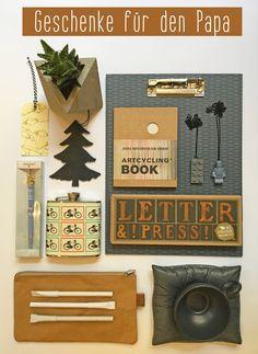 Geschenkideen für den Papa, Geschenke für Väter, von loretta cosima, Concept Store in Wien, www.lorettacosima.at Paper Mill, Dad Gifts, Decorations, Nice Asses