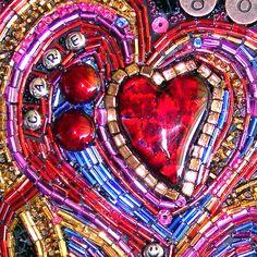 You've Got Heart Original Beaded Mosaic by WithAllMyHeartArt, $1,700.00