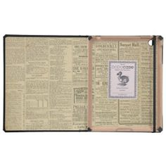 >>>best recommended          Vintage Newspaper Print Case For iPad           Vintage Newspaper Print Case For iPad today price drop and special promotion. Get The best buyShopping          Vintage Newspaper Print Case For iPad lowest price Fast Shipping and save your money Now!!...Cleck Hot Deals >>> http://www.zazzle.com/vintage_newspaper_print_case_for_ipad-256096121984905306?rf=238627982471231924&zbar=1&tc=terrest